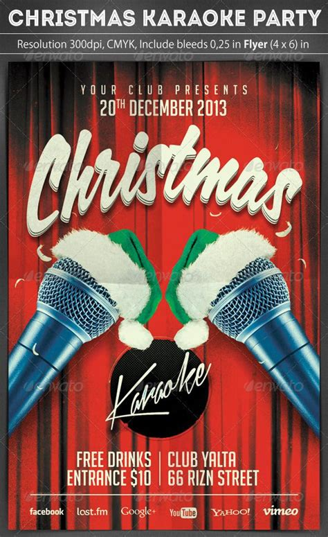 images of christmas karaoke christmas karaoke flyer scripts night parties and fonts