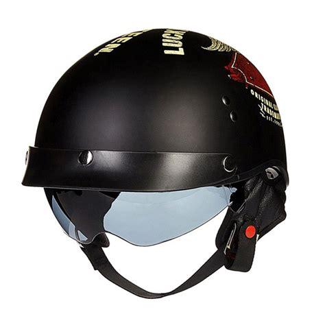 Open Retro Cycling Motorcycle Skull Helmet best retro harley motorcycle helmets moto bike open vintage helmet harley style helmet with
