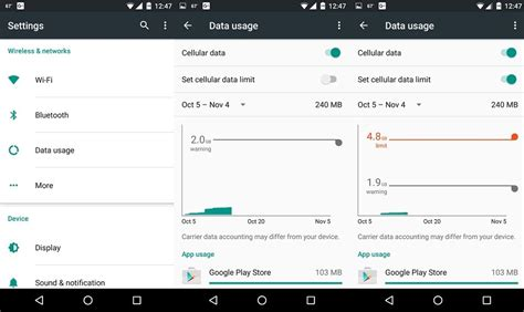 mobile data vodafone how to set a mobile data limit on your android phone