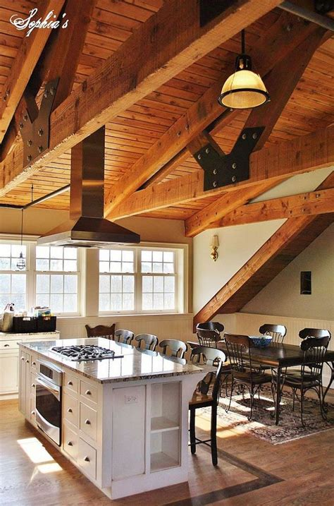 barns with lofts apartments loft kitchen view 2