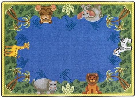 jungle friends rug all jungle friends carpet by carpets options classroom rugs carpets worthington direct
