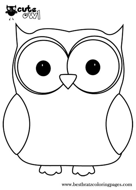 pictures of owls to color owl coloring pages bratz coloring pages clip