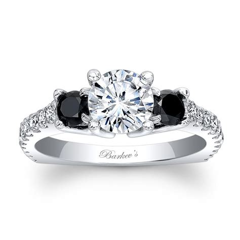 Black Engagement Rings by Barkev S Black Engagement Ring 7925lbk