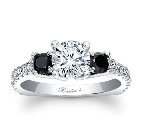 Barkev's Black Diamond Engagement Ring 7925LBKW