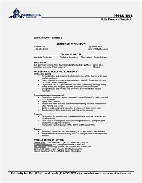 skills for resume exles customer services skills resume resume template cover