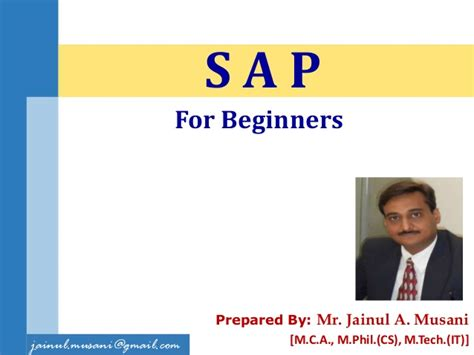sap tutorial beginners ppt sap for beginners