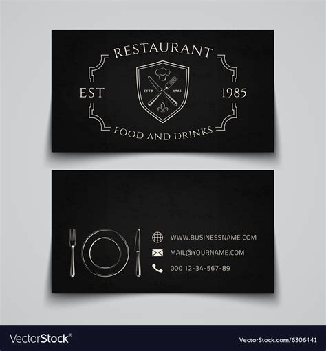 restaurant business cards templates free restaurant business cards images card design and