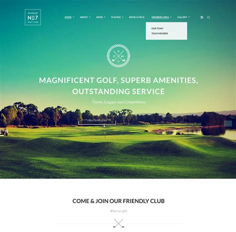 themes wordpress golf 12 best golf wordpress themes for golf clubs golf