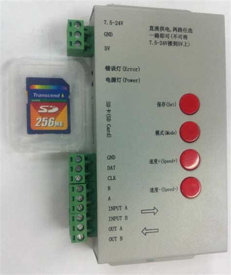 Controller Pixel Rgb Programmable Led With Sd Card And Software t1000s sd card color led pixel controller programmable for ws2801 lpd1809 ws2811 lpd6803