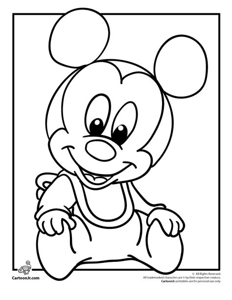 mickey mouse coloring pages easy baby disney coloring pages disney babies coloring pages