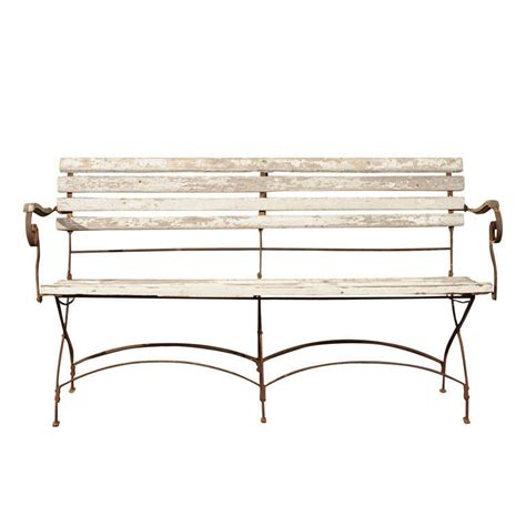 victorian benches victorian wrought iron folding garden bench at 1stdibs