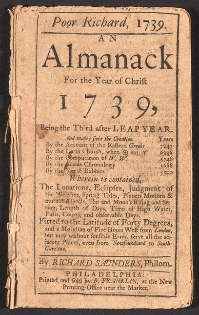 libro the almanac a seasonal poor richard s almanack wikipedia