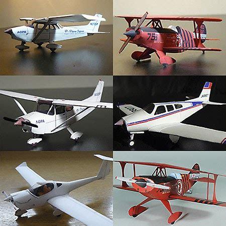 biplane monoplane papercrafts paperkraft net free