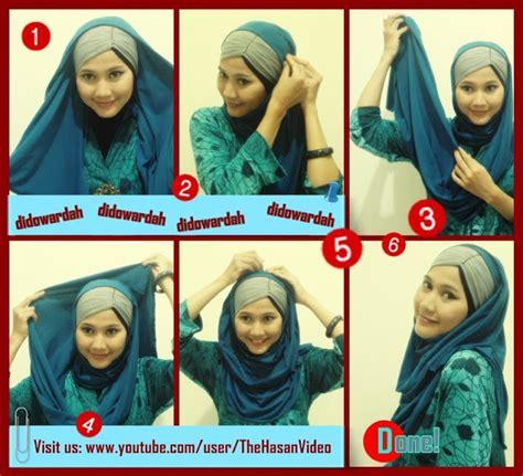 Model Kerudung Pashmina tutorial jilbab untuk hijaber indonesia tutorial model