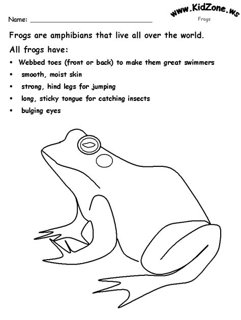 frog coloring worksheet free coloring pages of frog worksheet