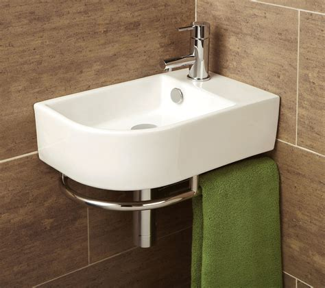 hib malo temoli cloakroom basin with towel rail 8976