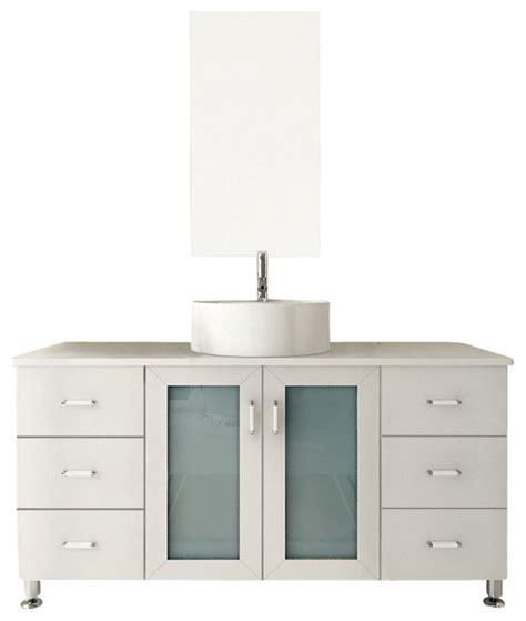 Bathroom Vanity Storage Solutions Grand Lune White Single Vessel Sink Modern Bathroom Vanity Cabinet Transitional Bathroom