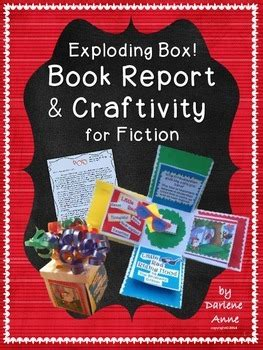 gifted book report book report and craftivity for independent fiction reading