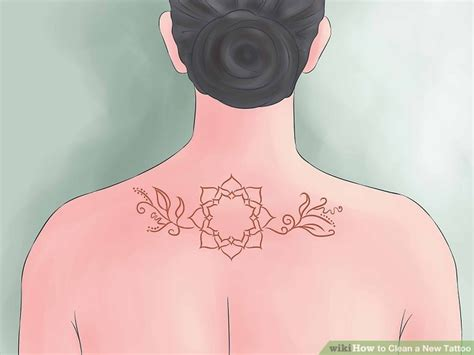 how to wash a new tattoo how to clean a new with pictures wikihow