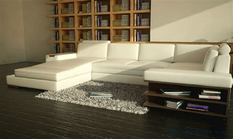 free shipping u shaped 2 color leather sofa high quality beauterful white sofa with real leather free shipping