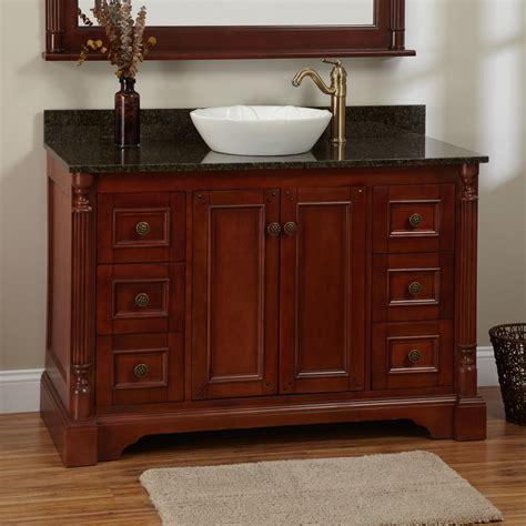 cherry vanity bathroom 48 quot trevett vessel sink vanity cherry bathroom