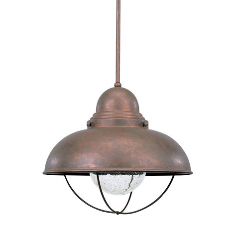 Outdoor Pendant Lighting Fixtures World Imports Sky Essen 1 Light Outdoor Antique Copper Pendant Wi900886 The Home Depot