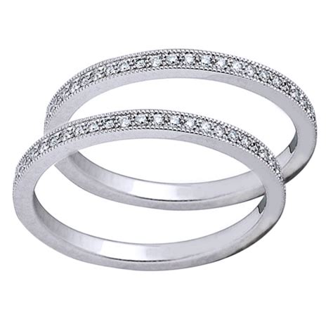 bead setting platinum bead set guard rings