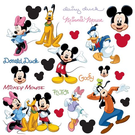 mickey wall stickers roommates mickey and friends peel stick wall decals