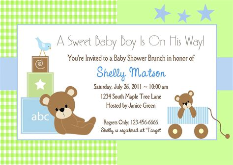 baby boy baby shower invitations template best template