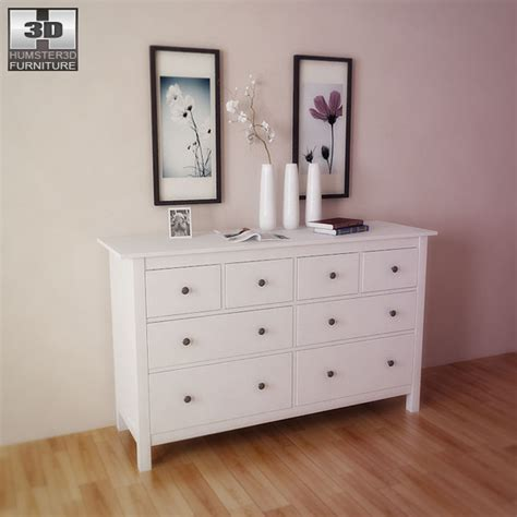 ikea bedroom furniture chest of drawers 3d models ikea hemnes chest of 8 drawers 3d model 3docean