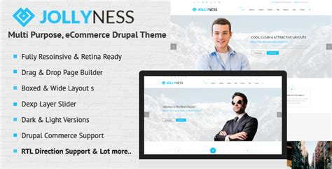 drupal theme jollyness best drupal commerce themes on themeforest