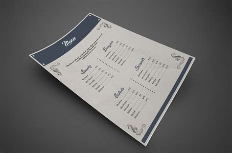 free psd menu templates 50 free psd restaurant flyer menu templates