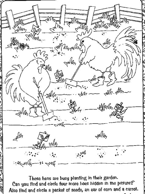 the little red hen coloring pages coloring home