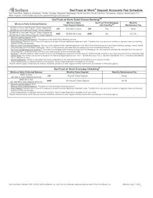 Bank Letter For Direct Deposit Suntrust Direct Deposit Authorization Form Templates Fillable Printable Sles For Pdf Word Pdffiller