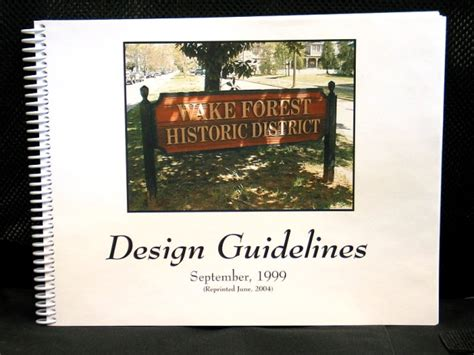 Design Guidelines For Local Historic Districts | historic preservation town of wake forest nc