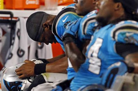 cam newton bench panthers smith says he lit into newton following loss