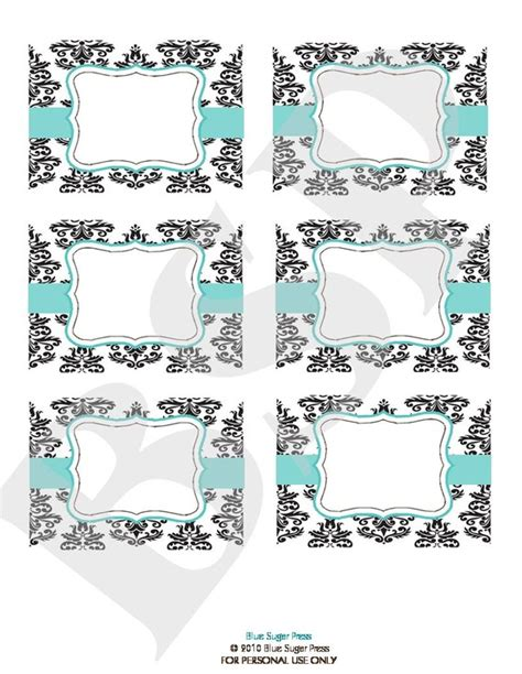 buffet cards template 8 best images of free printable damask buffet black and