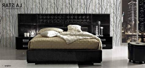 luxury furniture in modern bedroom with black color