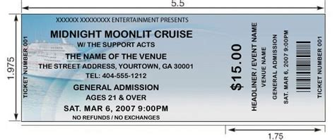 ta boat show cost custom ticket printing for cruises boat trips sailing