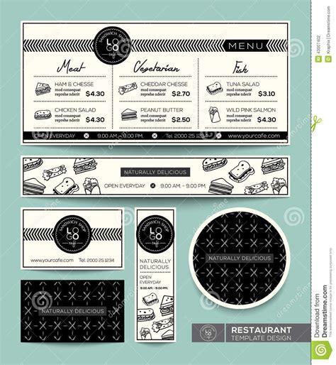 menu design graphic sandwich set menu restaurant graphic design template stock