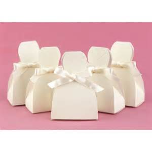 Ivory Wedding Favor Boxes by Favor Boxes Ivory Formal Gown