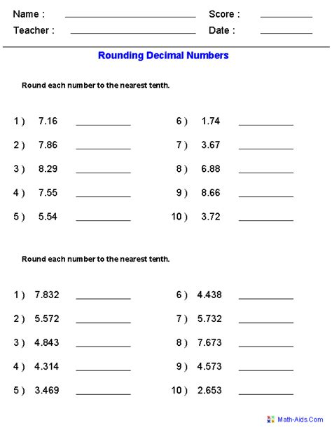 Rounding Decimals Worksheet by Rounding Worksheets Rounding Worksheets For Practice