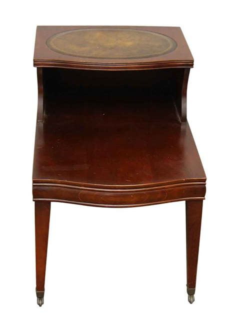 antique side tables for living room leather top side table olde good things