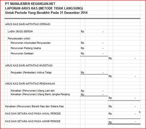 format cash flow metode langsung download form laporan keuangan blog manajemen keuangan