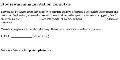 Invitation Letter Format Housewarming Ceremony House Warming With Word Quotes Quotesgram