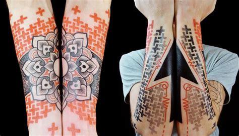 neo tribal tattoos 3d geometric shapes by marco galdo 2