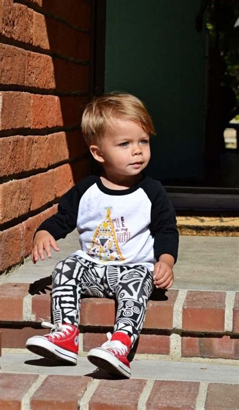 boys baseball haircuts little boy leggings and baseball tee with baby converse