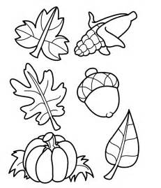 coloring fall leaf leaves coloring part 5