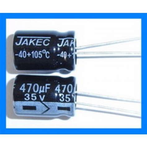 470uf 35v 105c radial electrolytic capacitor 10x15mm