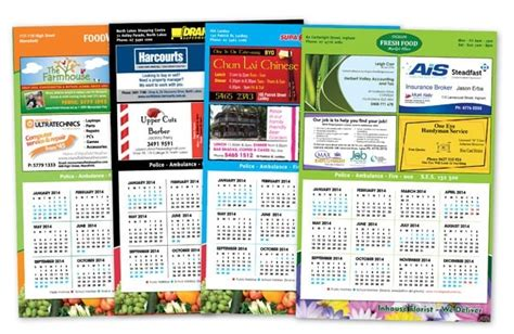 Advertising Calendars Sell Advertising Space On Calendars Small Business Ideas